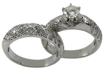 Antique Two Ring Wedding Setting