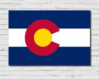 Colorado Flag Poster, Colorado State Flag Decor, Colorado State Flag Art, Colorado State Flag Print, Colorado State Flag Wall Art