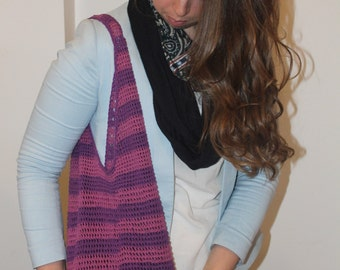 Grocery Bag, Market Bag, Handmand, Hand Crocheted