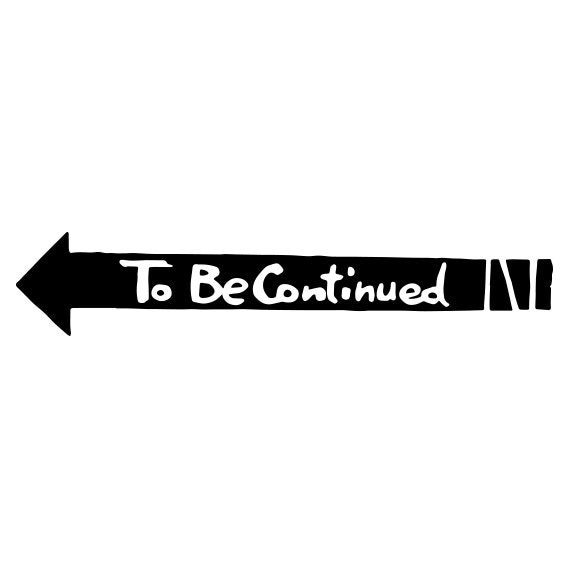 to be continued vinyl decal jojo 39 s bizarre adventure. Black Bedroom Furniture Sets. Home Design Ideas