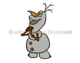 frozen olaf embroidery design. 4 sizes. Instant Download