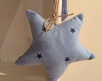 Blue hanging star