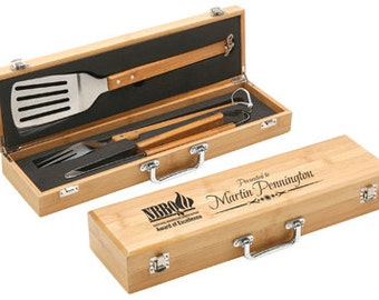 3 Piece Bamboo BBQ Gift Set