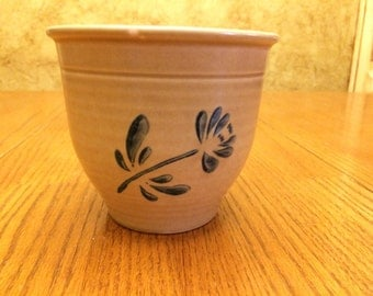 Vintage Pfaltzgraff Folk Art Planter Bowl 1984
