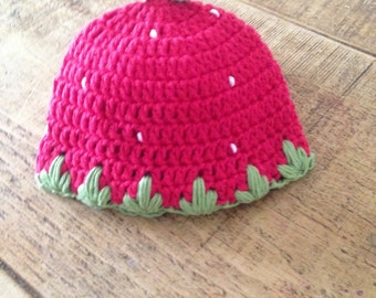 Beautiful UNIQUE Strawbery Girl Hat 100% cotton