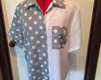 90s Polka Dot Button Shirt