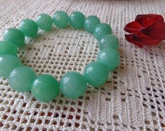 Jade bracelet, chunky bracelet, green bracelet, modern bracelet, stone bead bracelet, My special gift