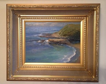 California Coastline Oil Painting by Tonya Zenin