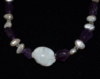 Amethyst and pearls