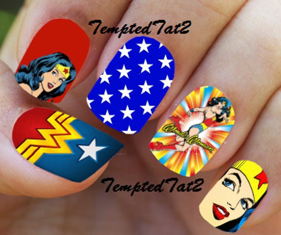 Nails Wonder Woman Can Nail Art Be Feminist: Wonder Woman Full Nail Decals By TemptedTat2 On Etsy