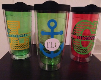 Personalized Double Wall 16 oz Tumbler with Lid