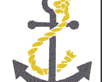 Anchor Sailor Rope Embroidery Pattern Design