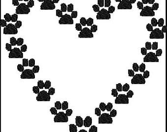 Love Pet Embroidery Design