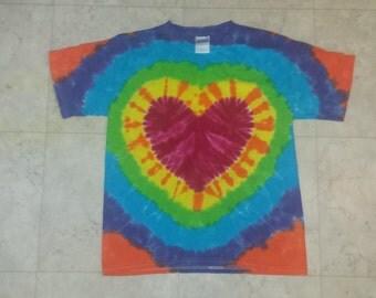 Tie Dye Heart youth Large