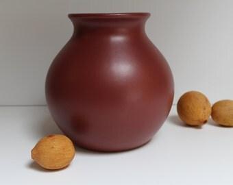 Pottery barn Maroon gourd vase, 1990's