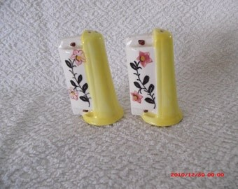 Vintage Harmonica Salt and Pepper Shakers from 1960's