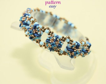 Brenda bracelet pattern tutorial with Quadra Tile