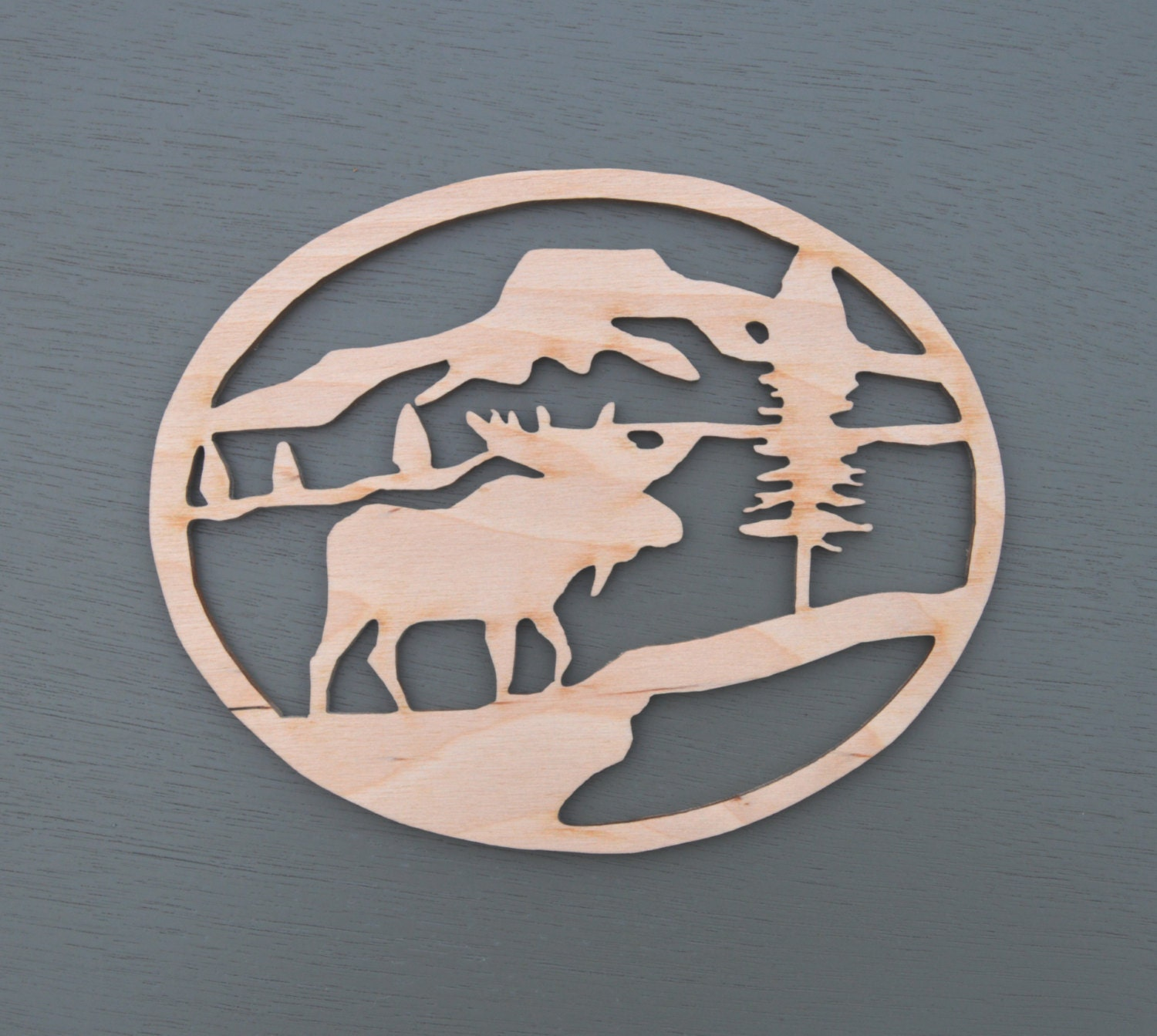 Moose Wood Cut Out Laser Cutout Moose By Docjlasercreations