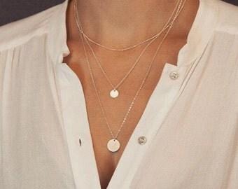 3 Layered Circle Pendant Necklace