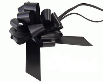 5 Bow Wedding Car Kit in Aubergine - 5 Bows and Ribbon