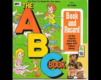Vintage Read Along - The ABC Book 1974 By Peter Pan Records