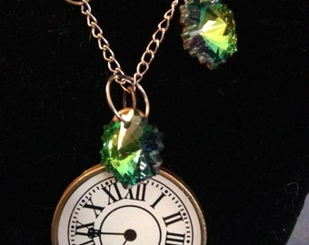 Clockface and Crystal Necklace