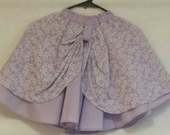 Girl's Purple Full Circle Skirt