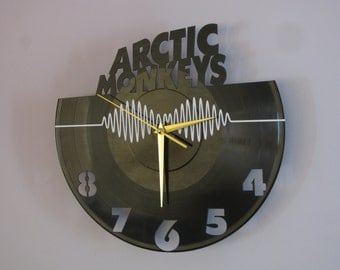 Vinyl record wall clock, Arctic Monkeys clock, Arctic Monkeys, vinyl clock, record clock, wall clock.