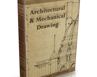 Architectural & Mechanical Drawing - 137 Old Books on DVD - Engineering Technical Design Art