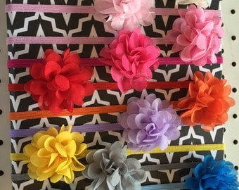 Baby Organza Flower Headband