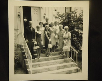 Vintage Group Photograph Black And White Photo