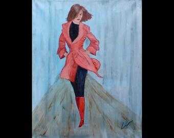 "BEATRICE, 16x20"" oil painting"