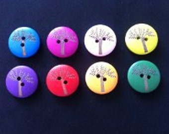 20mm wooden tree buttons