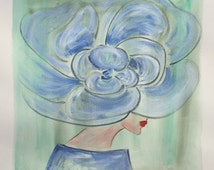 Blue Flower Hat