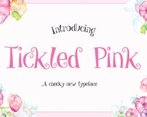 Tickled Pink Sweet Quirky Font Download Personal or Commercial