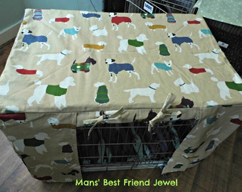 DoZeee Pet Bed Company Dog Crate Cover Mans' Best Friend