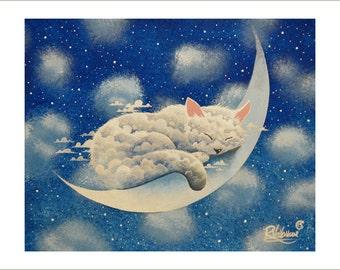Sleeping cloud on the moon
