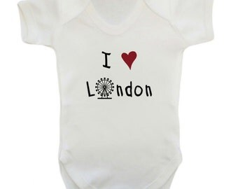 I Love London Baby Bodysuit