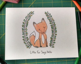 Little Fox Handmade Card