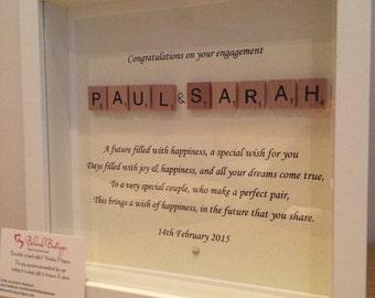 Personalised Wedding / Engagement frame