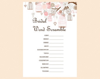 Scramble, Bridal Shower Word Scramble Game, Unscramble Game, Bridal Shower Game Printables, Bachelorette, Wedding Shower Games BS42