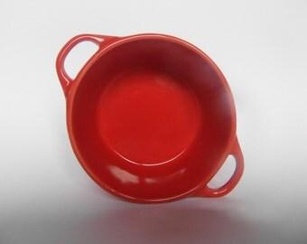 Vintage ceramic red bowl, lovely tiny bowl, Italian bowl