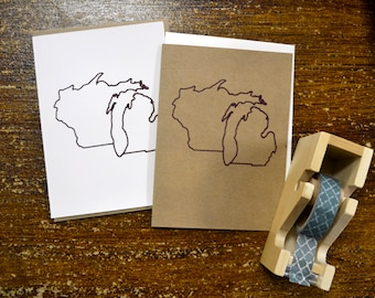 Wisconsin Michigan as One State Greeting Card