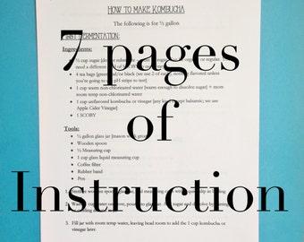 Kombucha Instructions - 7 pages
