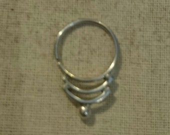HANDMADE silver nose septum WONDERFUL piercing***