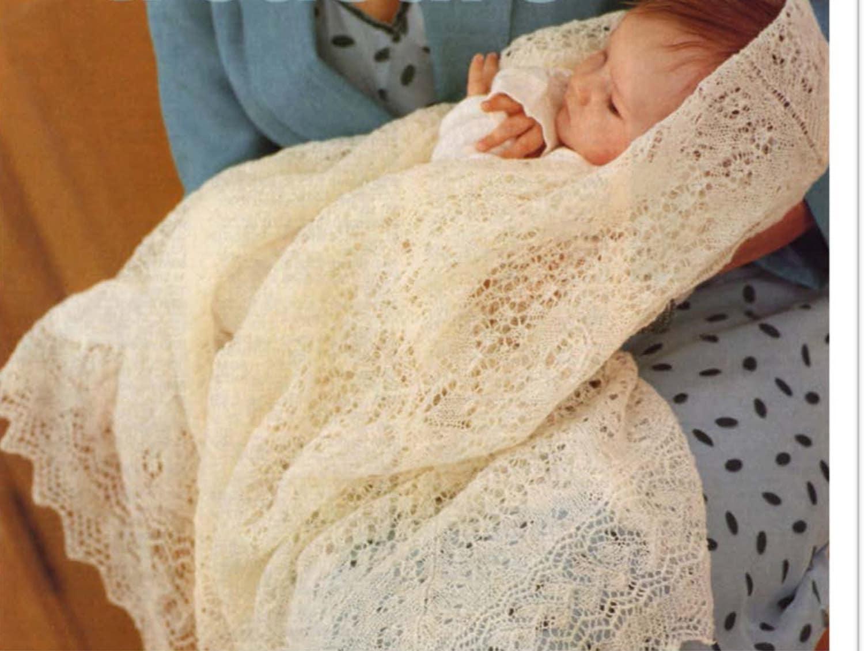 1 ply cobweb lace baby shawl knitting Pattern PDF very fine