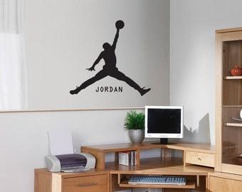 New Michael Jordan Basketball Black Wall Decal Wall Stickers Large 62cm X 58cm