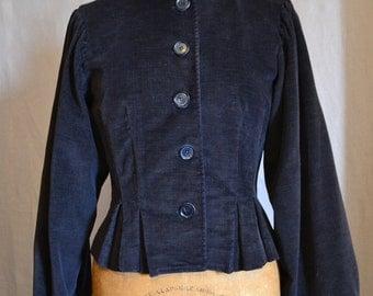 Vintage 1940s style Chocolate brown corduroy jacket