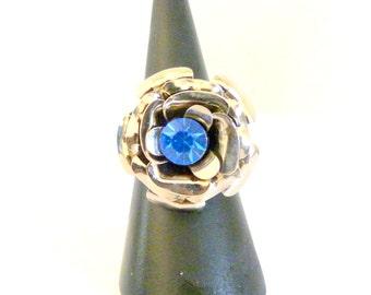 Flower Swarovski Crystal ring