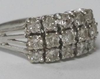1920 Estate Diamond Band Art Deco Period 19th Century